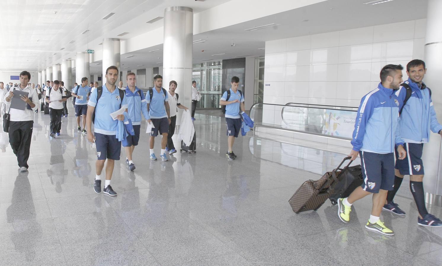 El Málaga llega a Turquía para medirse al Galatasaray