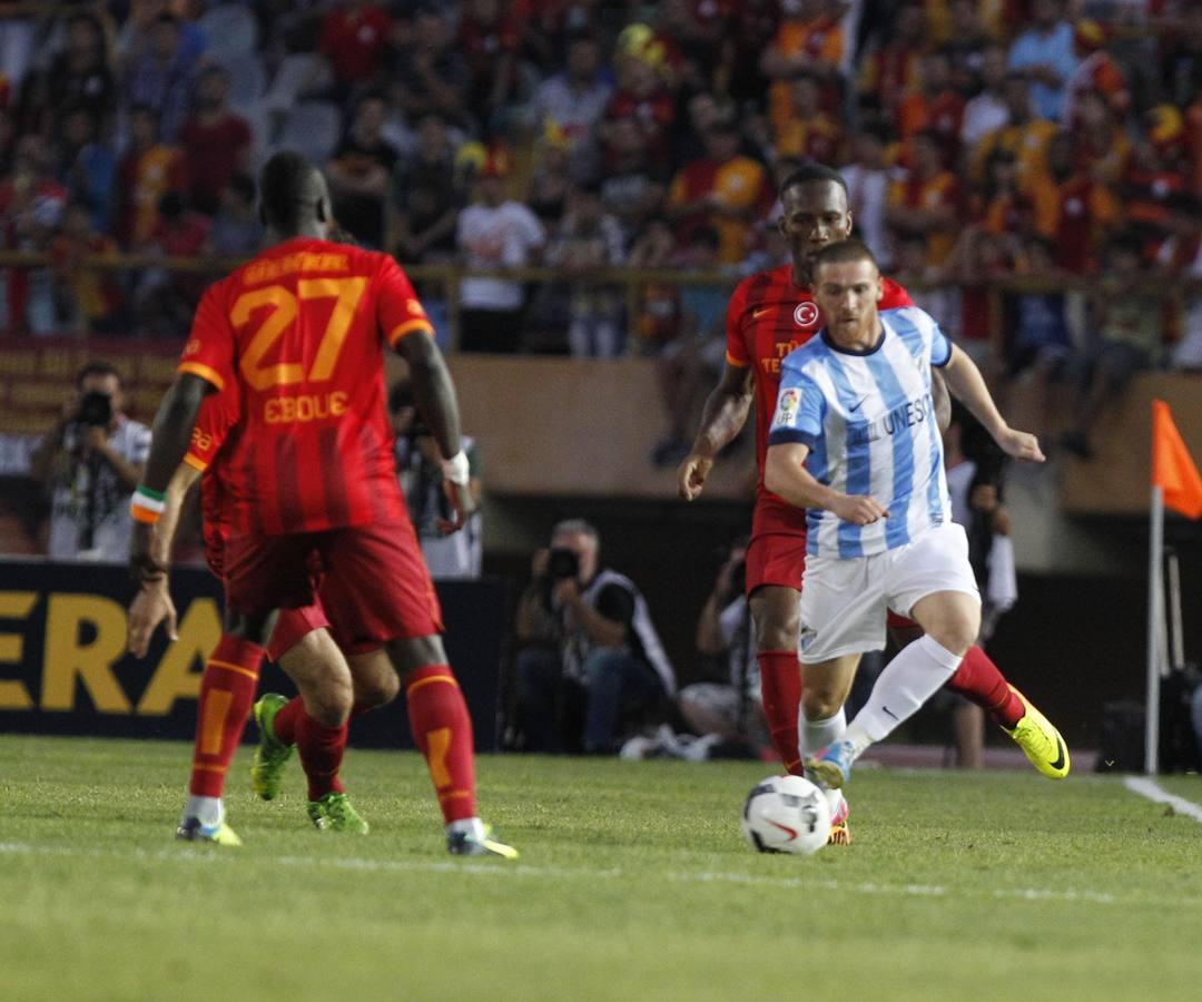El empate del Málaga ante el Galatasaray en imágenes
