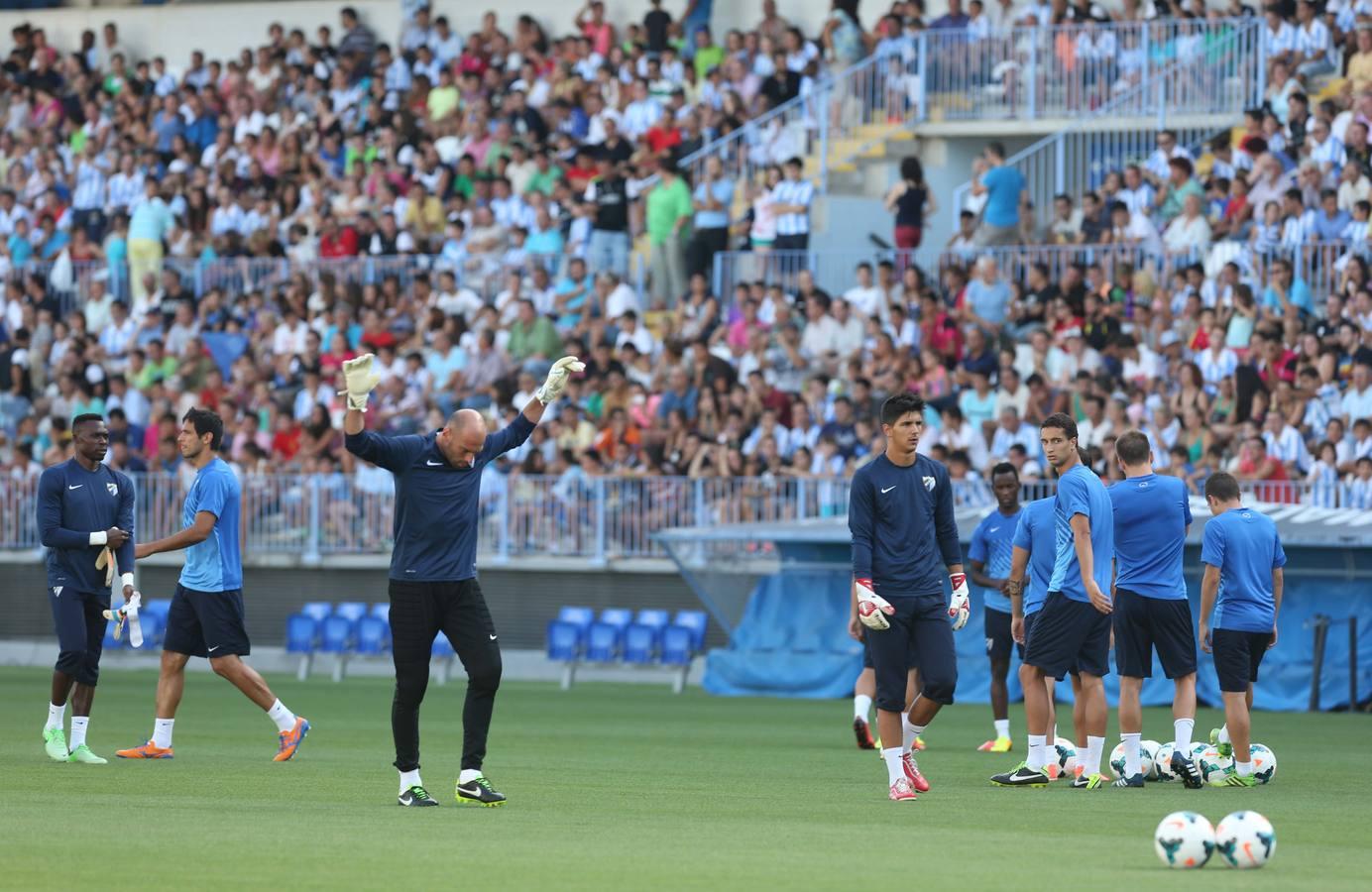 El Málaga se entrena con público en La Rosaleda