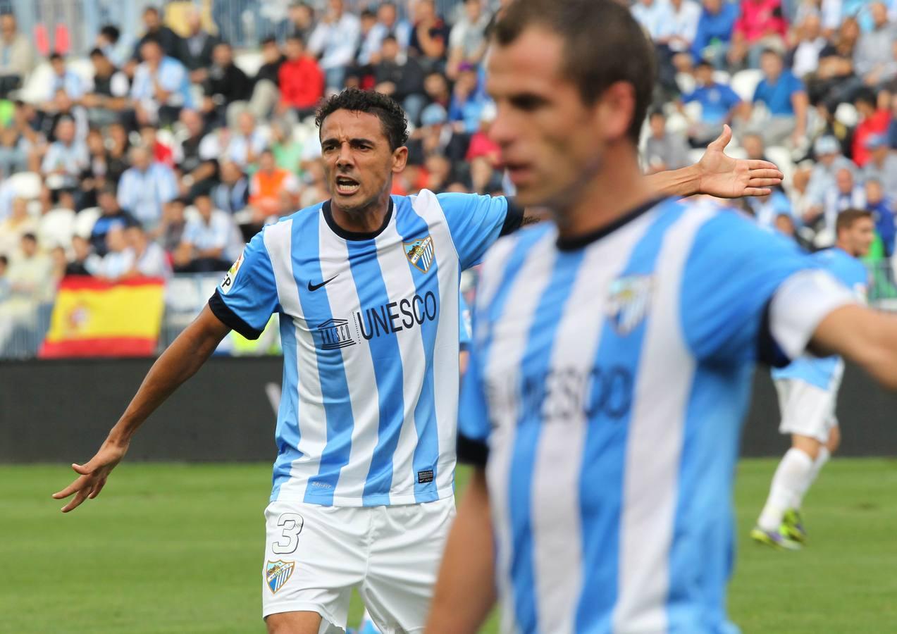 La derrota del Málaga-Celta (0-5), en fotos