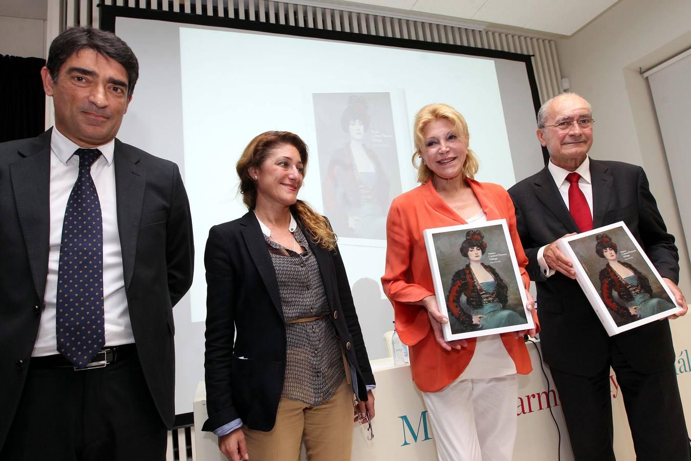 La baronesa presenta el catálogo de su colección en Málaga